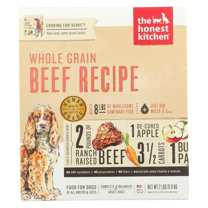 The Honest Kitchen - Dog Food - Whole Grain Beef Recipe - Case Of 6 - 2 Lb.