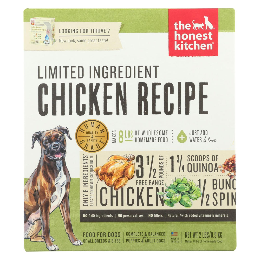 The Honest Kitchen - Dog Food - Limited Ingredient Chicken Recipe - Case Of 6 - 2 Lb.
