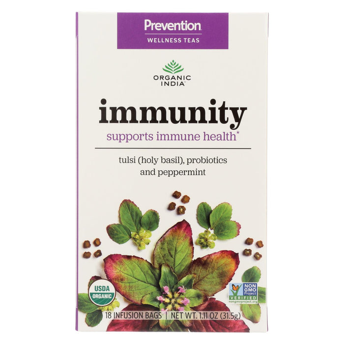 Organic India Organic Tea - Immunity - Case Of 6 - 18 Count