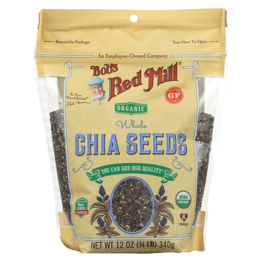 Bob's Red Mill Organic Seeds - Chia - Case Of 6 - 12 Oz