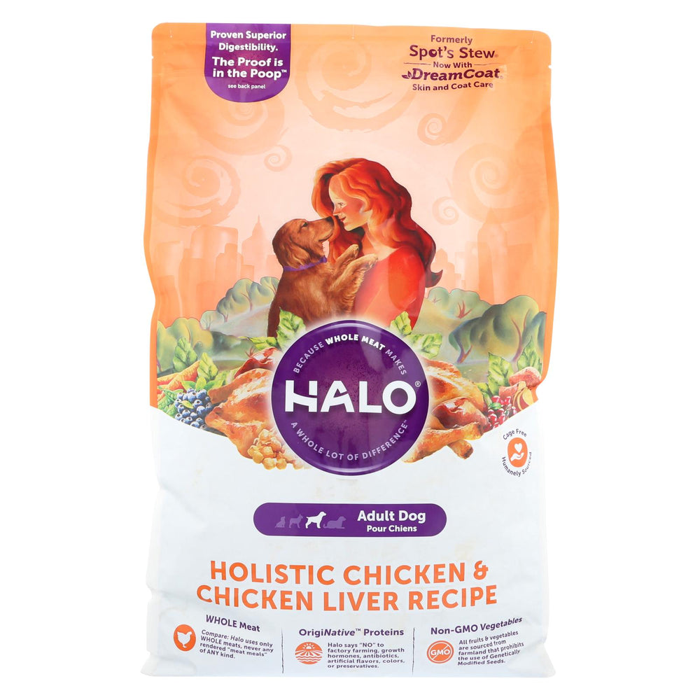Halo Purely For Pets Holistic - Dog - Chicken And Chicken Liver Recipe - 14 Lb.