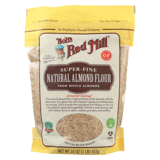Bob's Red Mill Flour - Almond - Natural - Case Of 4 - 16 Oz