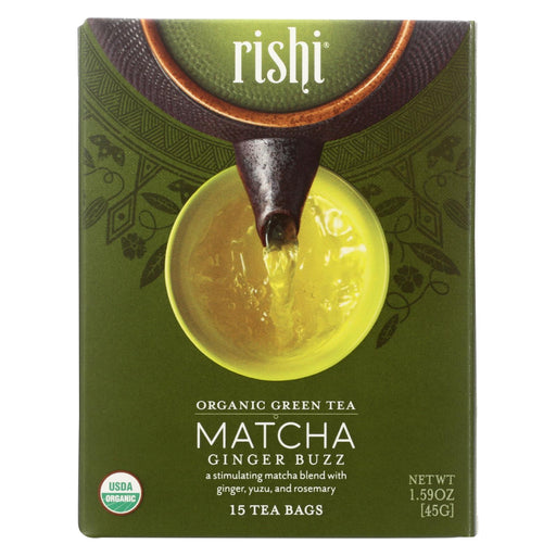 Rishi - Organic Tea - Matcha Ginger Buzz - Case Of 6 - 15 Bags