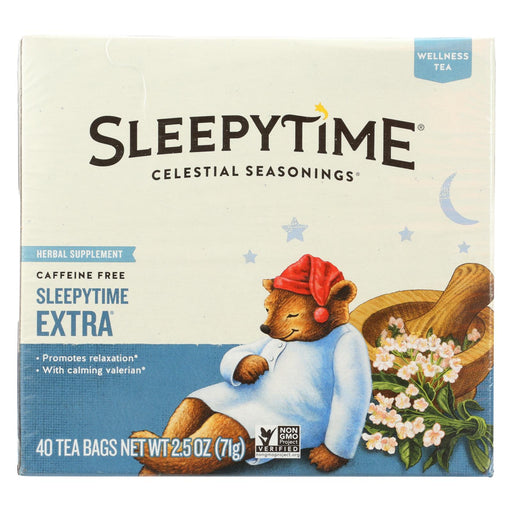 Celestial Seasonings Herb Tea - Sleepytime Extra - Case Of 6 - 40 Bag