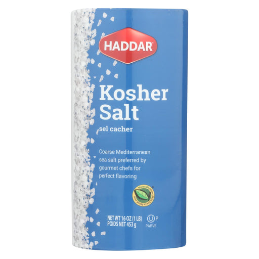 Haddar Salt - Kosher - Case Of 12 - 16 Oz