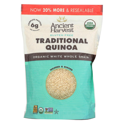 Ancient Harvest Quinoa - Organic - Traditional - Whole Grain - Gluten Free - Case Of 12 - 14.4 Oz