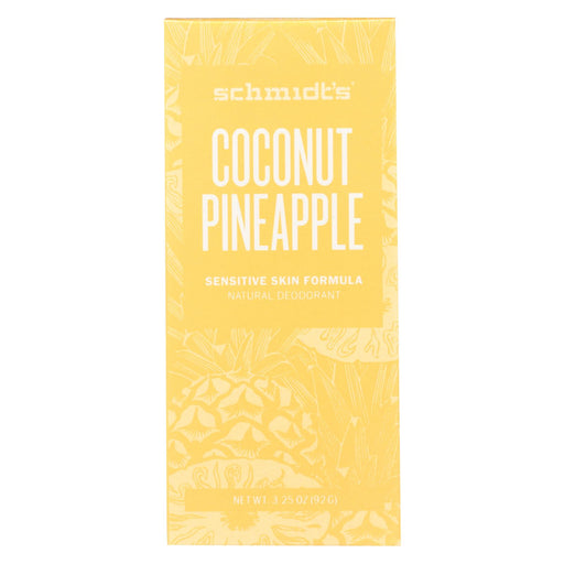 Schmidt's Natural Deodorant Stick - Coconut Pineapple - 3.25 Oz