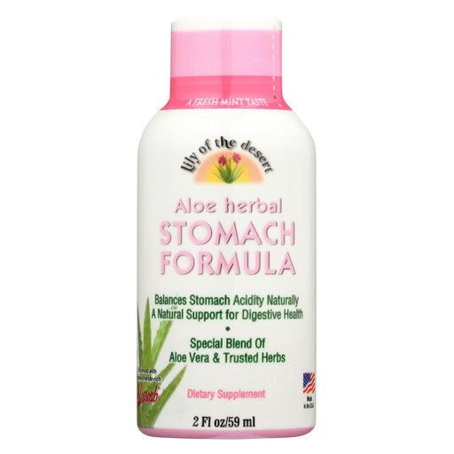 Lily Of The Desert - Stomach Formula Shot - Case Of 12 - 2 Fl Oz.