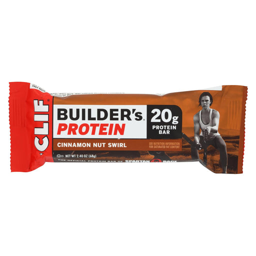 Clif Bar Builder Protein Bar - Cinnamon Nut - Case Of 12 - 2.4 Oz