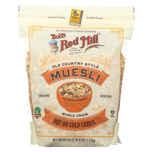 Bob's Red Mill Cereal - Muesli - Hot Or Cold - Case Of 4 - 40 Oz