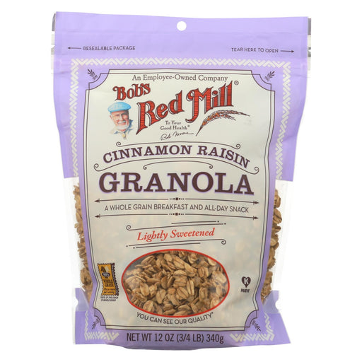 Bob's Red Mill Granola - Cinnamon Raisin - Light Sweet - Case Of 4 - 12 Oz