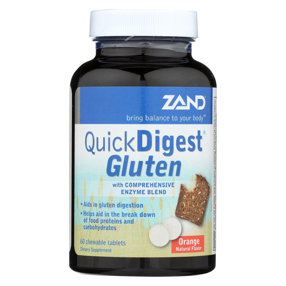 Zand - Quick Digest Gluten - 60 Chewable Tablets