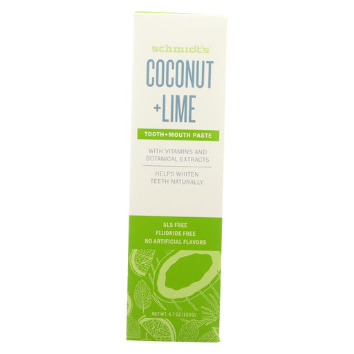 Schmidt's - Toothpaste Coconut And Lime - 4.7 Oz.