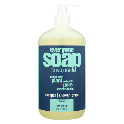 Everyone Kid Soap - Sage And Verbena - Case Of 1 - 32 Fl Oz.