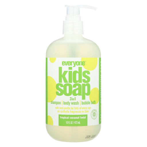 Everyone Kid Soap - Tropical Coconut Twist - Case Of 1 - 16 Fl Oz.