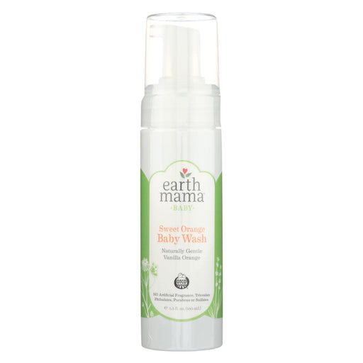 Earth Mama Baby Wash Naturally Gentle Vanilla Orange - Case Of 5.3 - 5.3 Fl Oz.