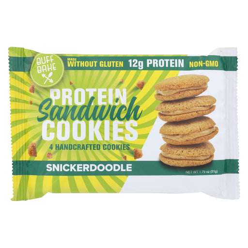 Buff Bake Cookies Snickerdoodle - Case Of 8 - 1.79 Oz.