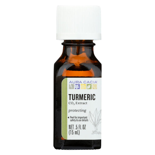 Aura Cacia Essential Oil - Turmeric Extract - Case Of 1 - .50 Fl Oz.