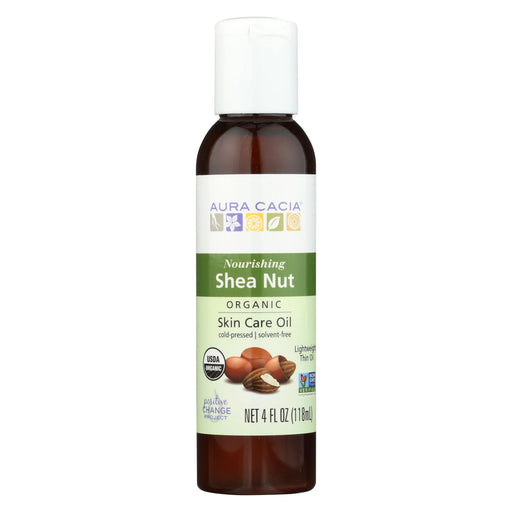 Aura Cacia Body Oil - Shea Nut - Case Of 1 - 4 Fl Oz.