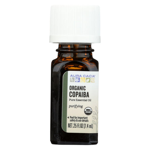 Aura Cacia Essential Oil - Copaiba - Case Of 1 - .25 Fl Oz.