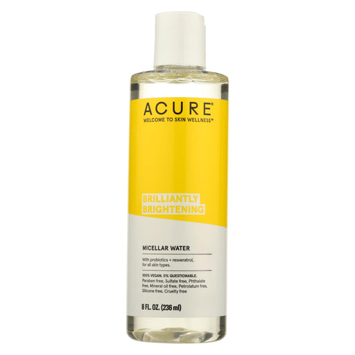 Acure Microcellular Water - Brighten Argan Oil, Mint And Coconut - Case Of 1 - 8 Fl Oz.