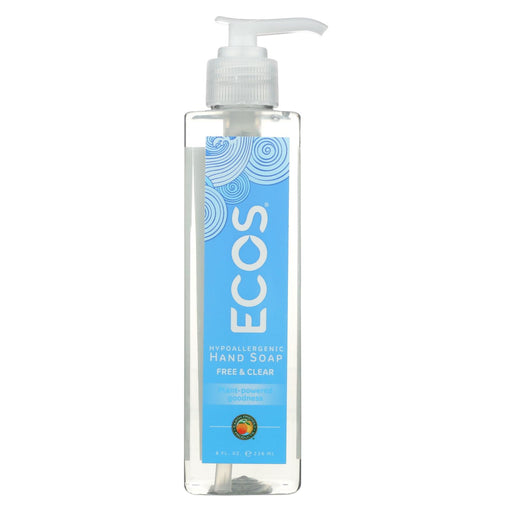 Ecos Hand Soap - Free And Clear - Case Of 6 - 8 Fl Oz.