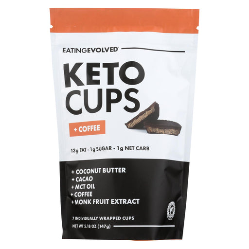 Eating Evolved Keto Cups - Coffee Keto Pouch - Case Of 6 - 5.25 Oz.