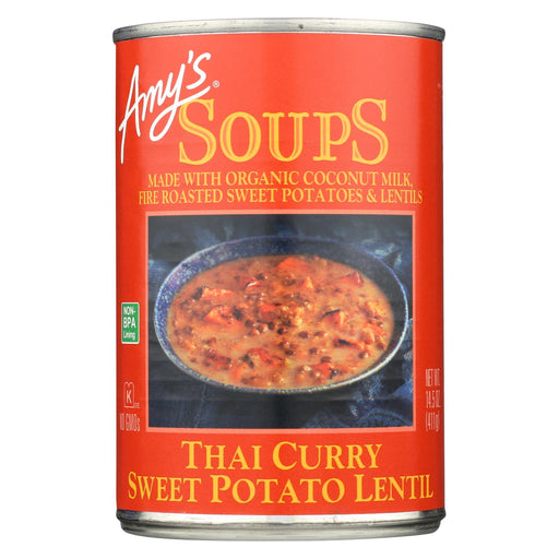 Amy's Soup Thai Curry Sweet Potato Lentil - Case Of 12 - 14.5 Oz