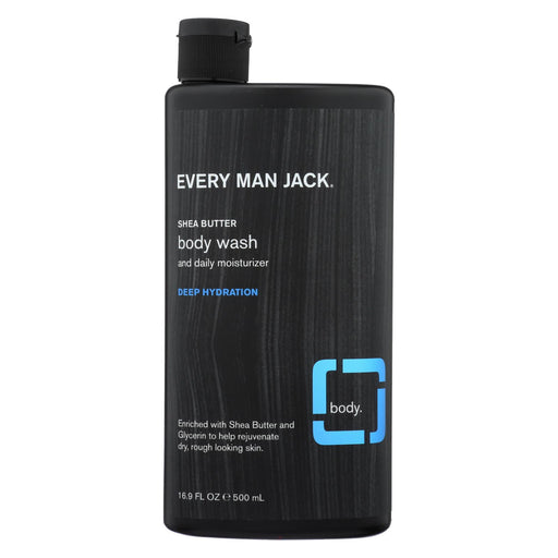 Every Man Jack Body Wash Shea Butter Body Wash | Deep Hydration - Case Of 16.9 - 16.9 Fl Oz.