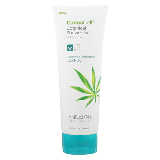 Andalou Naturals Shower Gel Rosemary + Lemon Balm - Case Of 8 - 8 Fl Oz.