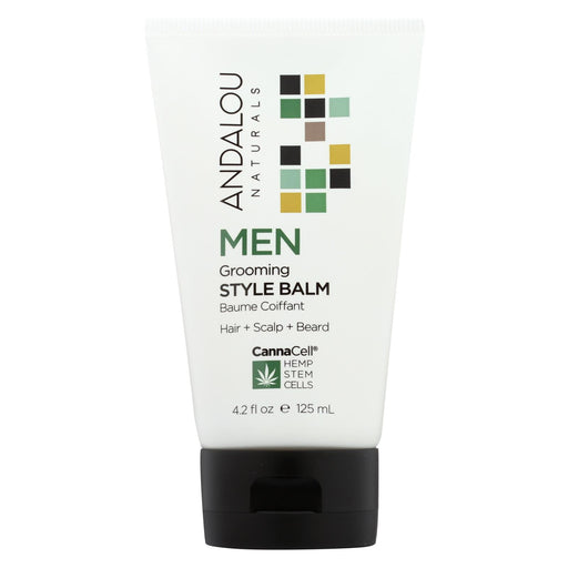 Andalou Naturals Grooming Style Balm Hair And Scalp And Beard - 4.2 Fl Oz.