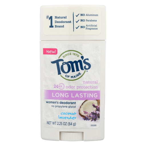 Tom's Of Maine - Deodorant - Coconut Lavender - Case Of 6 - 2.25 Oz.