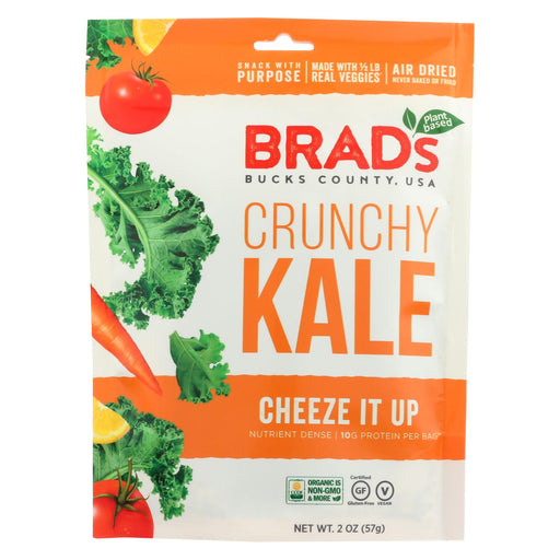 Brad's Plant Based Crunchy Kale - Cheeze It Up - Case Of 12 - 2 Oz.
