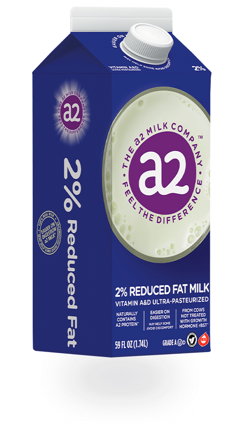 A2 2% Reduced Fat Vitamin A&D Ultra-Pasteurized Milk