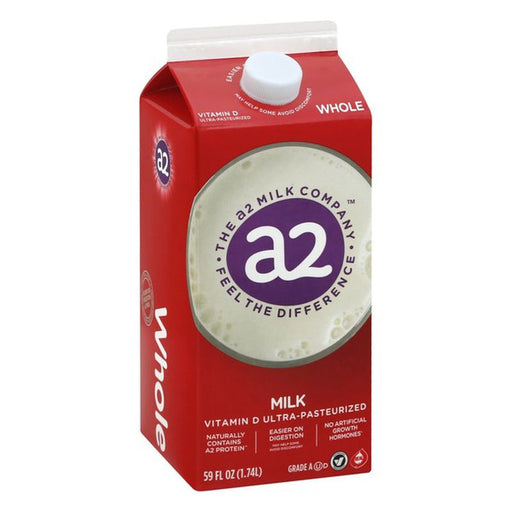 A2 Milk Whole Vitamin D Ultra-Pasteurized 59 fl oz