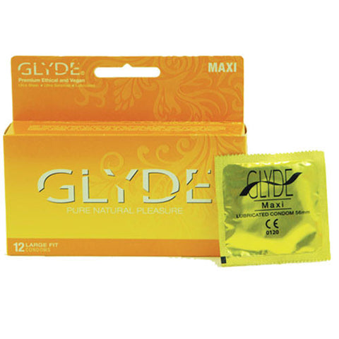 Glyde Maxi Vegan Condoms Box of 12