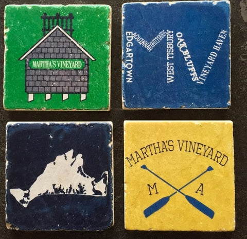 Martha\\\'s Vineyard Coasters - By Beachside Clothing Co.
