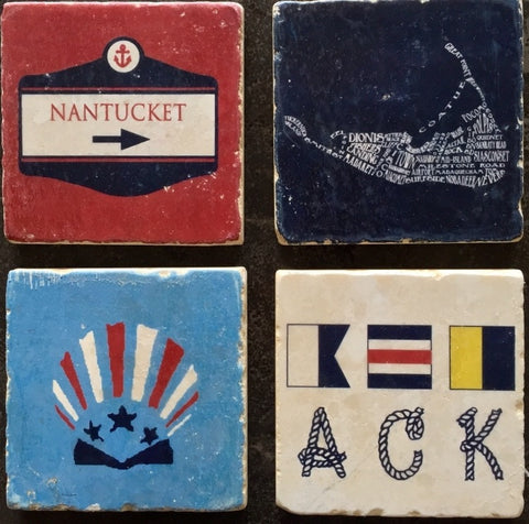 Nantucket Coasters - By Beachside Clothing Co.