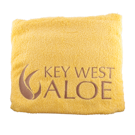 Sunshine Yellow Key West Aloe Beach Towel
