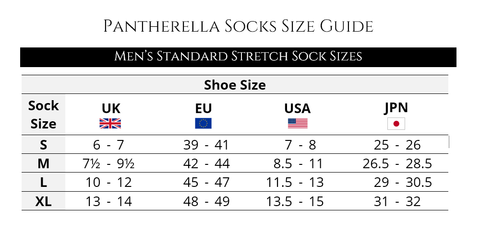 pantherella socks sizing guide