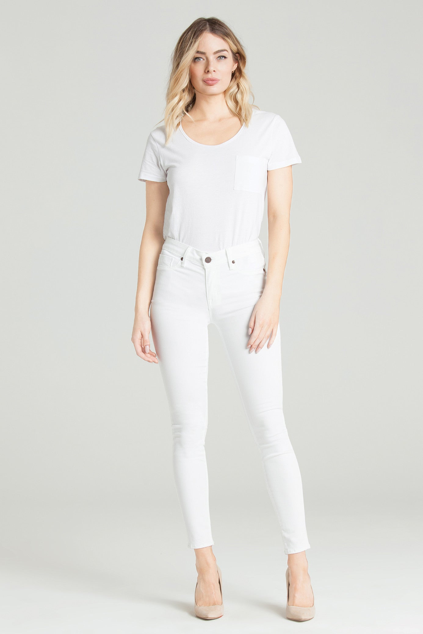 "PARKER SMITH ""AVA SKINNY Jeans"" IN ETERNAL WHITE"
