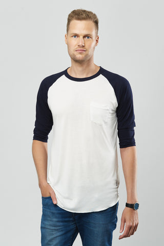 Beren of L.A Baseball Tee - Navy Blue
