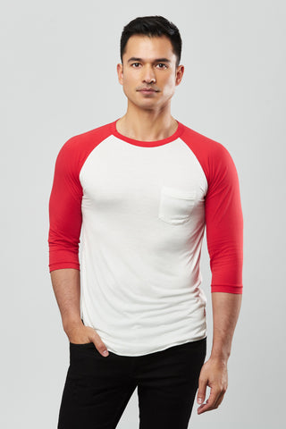 Beren of L.A Baseball Tee - Red