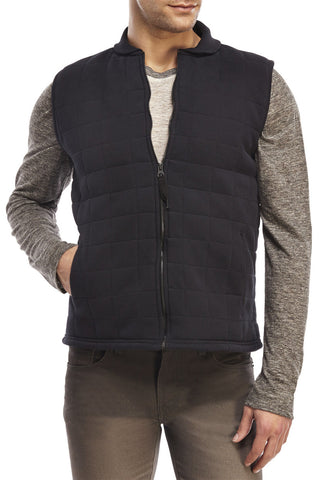 Beren of L.A Sherpa Lined Quilted Vest - Black **OUT OF STOCK**