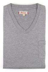 Beren of L.A V Neck Tee  With Pocket - Grey