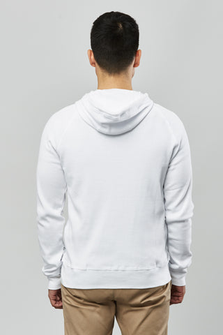 Beren of L.A Waffle Hoody - White