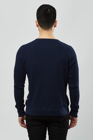 Beren of L.A Waffle Pullover - Blue