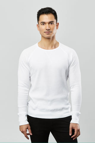 Beren of L.A Waffle Pullover - White