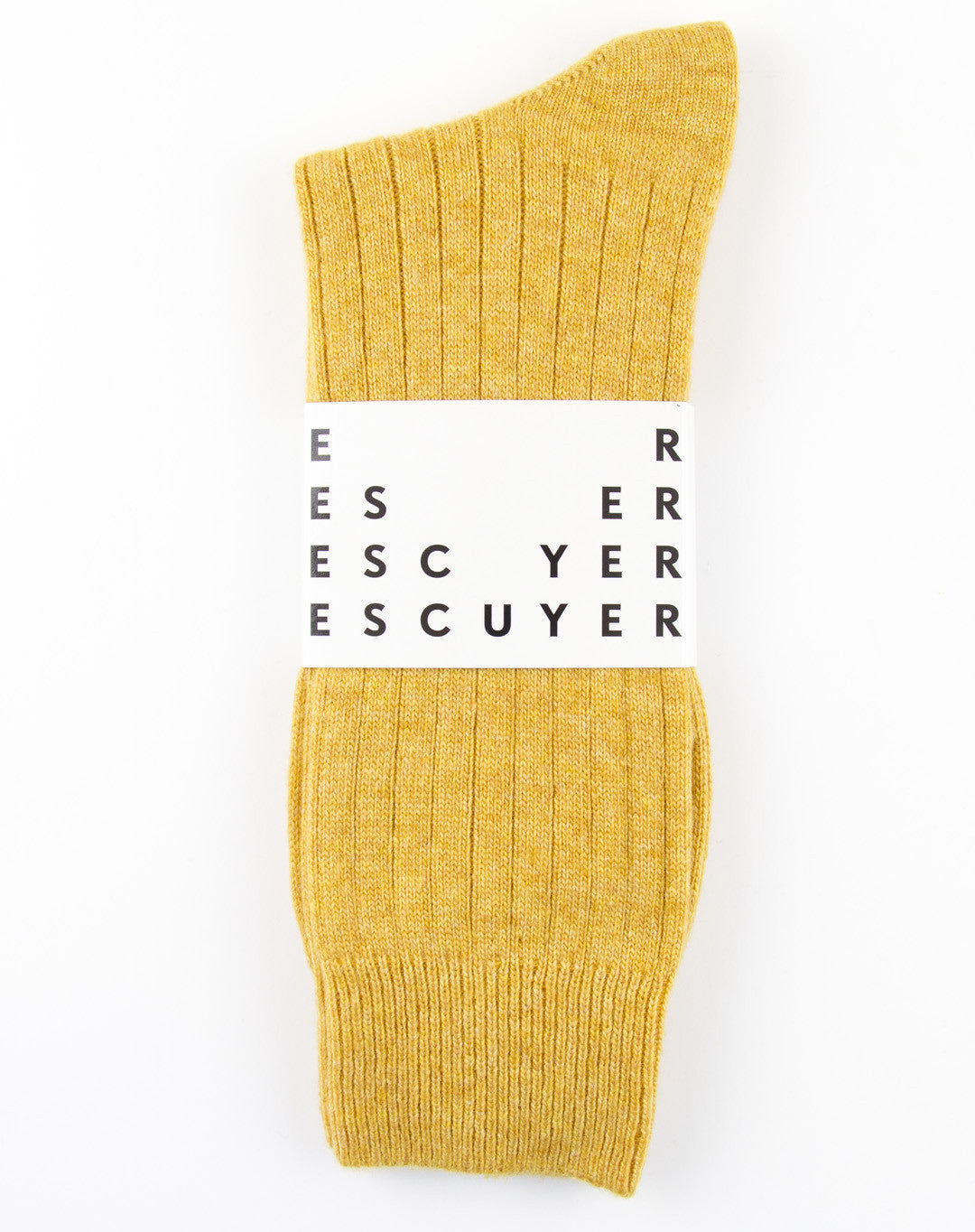 Escuyer Cashmere Socks - Yellow