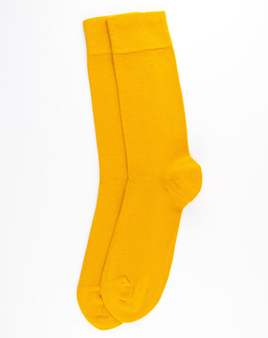 Escuyer Casual Colour Socks - Mustard
